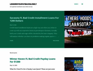 lendersyoupaybackslowly.blogspot.com screenshot