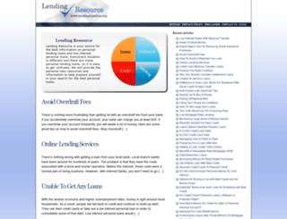 lendingresource.org screenshot