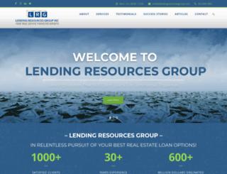 lendingresourcesgroup.com screenshot
