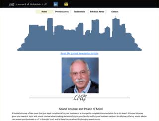 lengoldsteinlaw.com screenshot