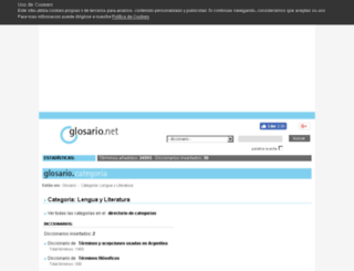 lengua-y-literatura.glosario.net screenshot