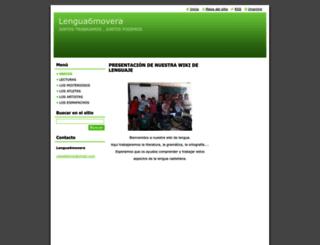 lengua6movera.webnode.es screenshot