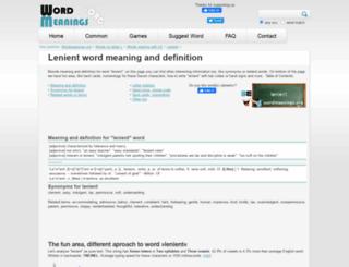 lenient.wordmeanings.org screenshot