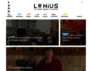 lenius.it screenshot