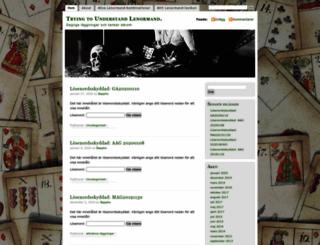 lenormandjournal.wordpress.com screenshot