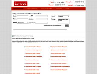 lenovoservicecenters.com screenshot