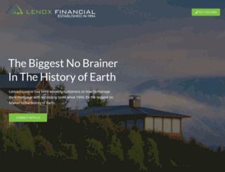 lenoxfinancial.com screenshot
