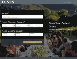 lenoxhotel.groupize.com screenshot
