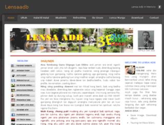 lensaadb.weebly.com screenshot