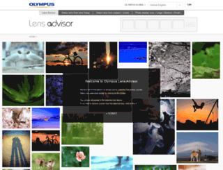 lensadvisor.olympus-imaging.com screenshot
