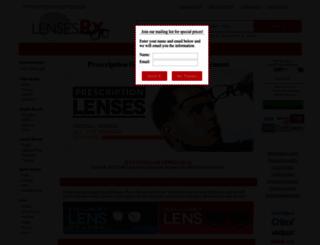 lensesrx.com screenshot