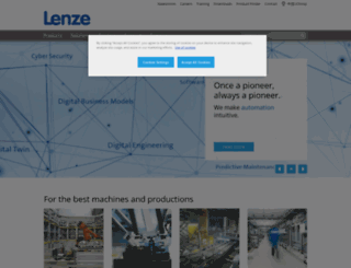lenze.cn screenshot