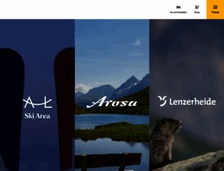lenzerheide.com screenshot