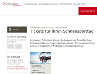 lenzerheide.skiticketshop.com screenshot