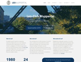 leo-club-wuppertal.de screenshot
