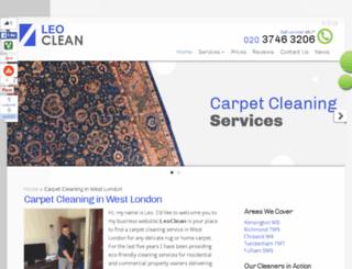 leoclean.co.uk screenshot
