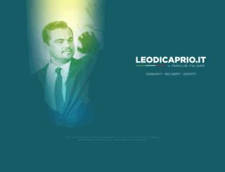 leodicaprio.it screenshot