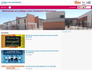 leon-gambetta-rabastens.entmip.fr screenshot