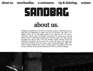 leonardcohen.sandbaghq.com screenshot
