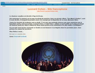 leonardcohensite.com screenshot