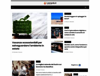 leonardo.it screenshot