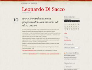 leonardodisacco.wordpress.com screenshot