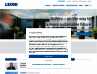 leoni.com screenshot