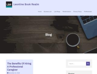 leontinesbookrealm.com screenshot