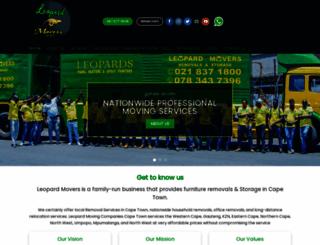 leopardmovers.co.za screenshot