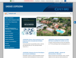 leopoldina.cefetmg.br screenshot