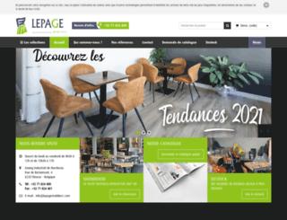 lepagemobiliers.com screenshot