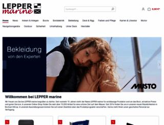 lepper-marine.de screenshot