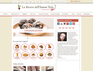 lericettedellamorevero.com screenshot