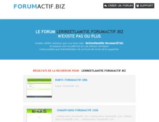 lerireetlamitie.forumactif.biz screenshot