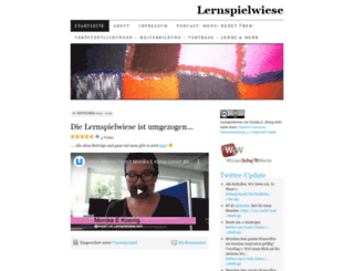 lernspielwiese.wordpress.com screenshot