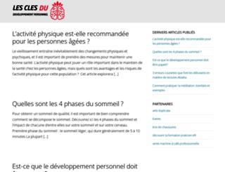 les-cles-du-developpement-personnel.com screenshot