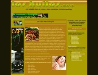 les-huiles.com screenshot