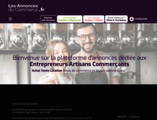 lesannoncesducommerce.fr screenshot