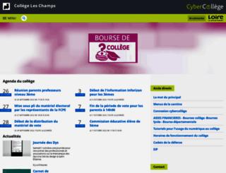 leschamps.cybercolleges42.fr screenshot