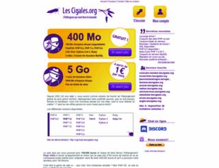 lescigales.org screenshot
