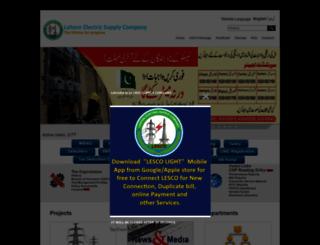 lesco.gov.pk screenshot