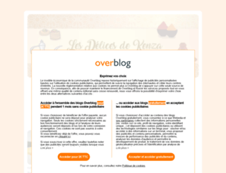 lesdelicesdekenza.overblog.com screenshot