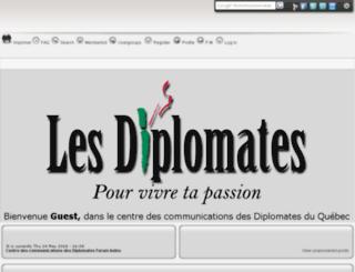 lesdiplomates.vraiforum.com screenshot