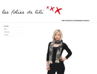 lesfoliesdelili.com screenshot