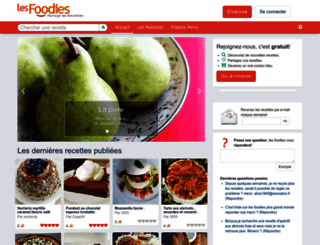 lesfoodies.com screenshot