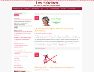 leshairoines.com screenshot