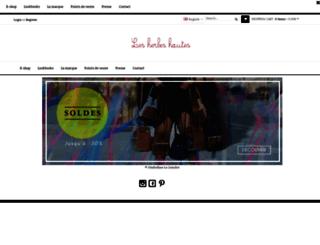 lesherbeshautes.com screenshot