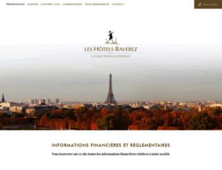 leshotelsbaverez-sa.com screenshot