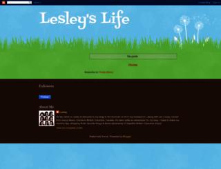 lesleyslife.blogspot.com screenshot