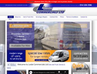 lesliecommercials.co.uk screenshot